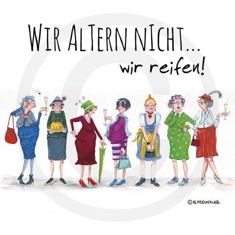 Holzbild - Barbara Freundlieb - WIR ALTERN NICHT - Deko Unlimited - E, 19,95 €