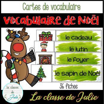 ☀️FRENCH☀️ Christmas Vocabulary   Mots de vocabulaire   Noël