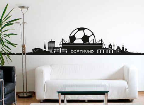 Wandtattoo Dortmund Skyline Fussball Fan W5070 In 2019