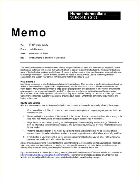 business memo examples inter office sample example contract - cash memo format in word