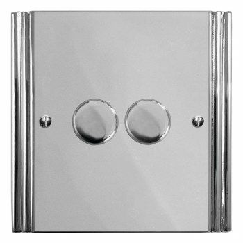 Plaza Dimmer Switch 2 Gang Polished Chrome In 2020 Dimmer Switch Polished Nickel Dimmer