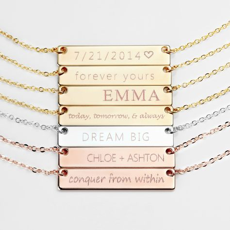 cb102bfdac Personalized and elegant. Our name plate necklace is one of our best  selling items, and one of our favorite pieces to make!
