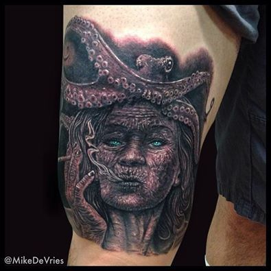 "Mike DeVries - ""Finished up this crazy octopus lady a few days ago at MD Tattoo ...,  #Crazy ..."
