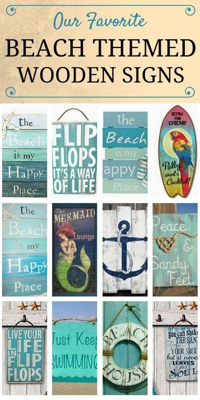 100 Wooden Beach Signs Wooden Coastal Signs Beachfront Decor