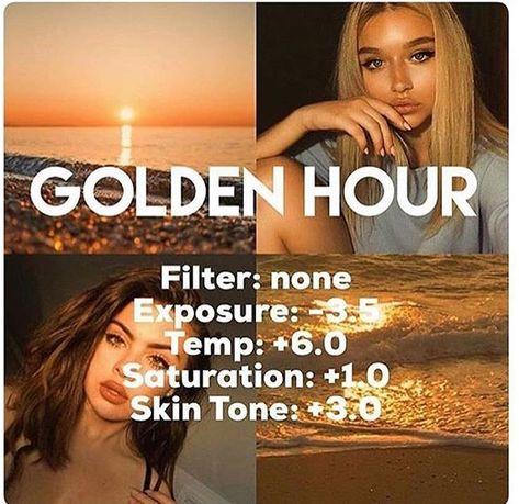 Golden hour VSCO filter code