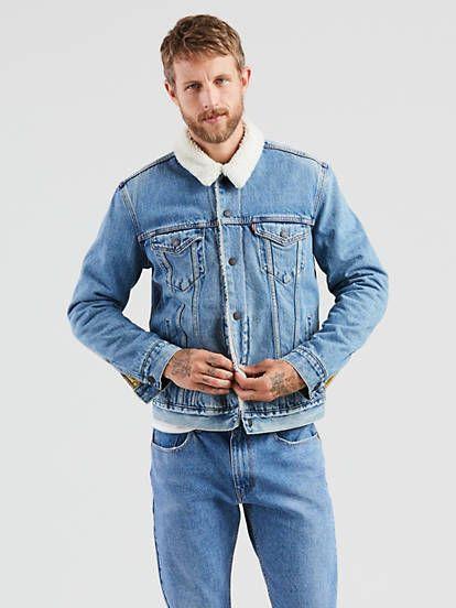 Sherpa Trucker Jacket Mens Fashion Sweaters Mens Fashion Blazer Shop Mens Jeans