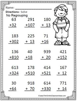 3rd Grade Go Math 1 7 Color By Numbers Addition Of Multi Digit Numbers To 1000 3rd Grade Math Worksheets Math Addition Worksheets 4th Grade Math Worksheets