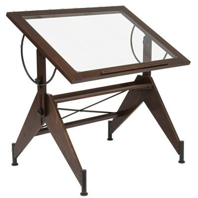 Symple Stuff Temaraia Height Adjustable Drafting Table Wayfair Drafting Table Antique Drafting Table Aries Glass