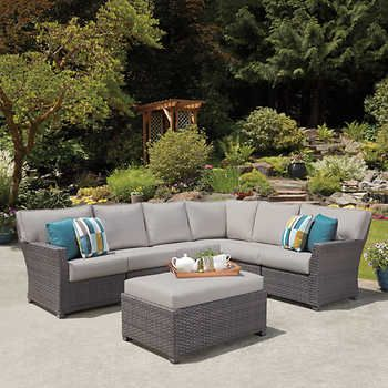 Westchester 7 Piece Sectional Patio Seating Sets Backyard