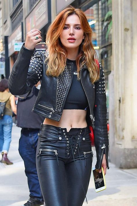 "treasure-bliss: ""itsdailyactress: ""Bella Thorne in Black Leather Outfit in New York City "" Collecting pets for @princess-jenna1. """