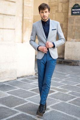 Veste bleu royal homme