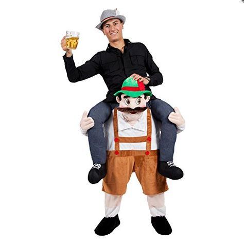 BAVARIAN BEER GUY CARRY ME MASCOT FANCY DRESS COSTUME Unb…