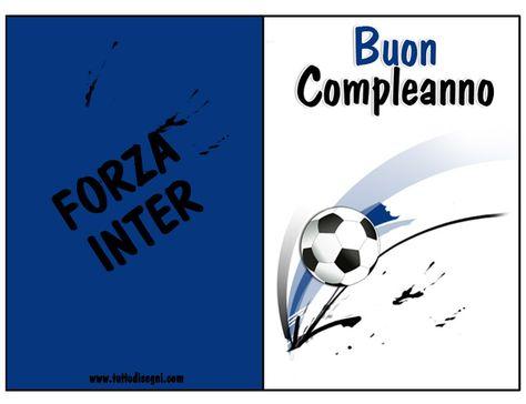 Biglietti Compleanno Calcio - Squadra Inter - Tutto Disegni