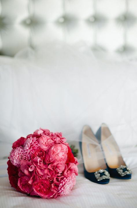 Gorgeous Bouquet Colors | Photography: Birds of a Feather Photography | http://stylemepretty.com/2013/01/22/san-diego-rooftop-wedding-from-birds-of-a-feather-photography