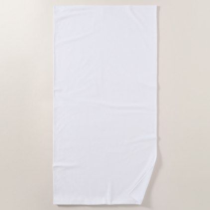 Plain White Beach Towel Zazzle Com White Bath Towels Bath
