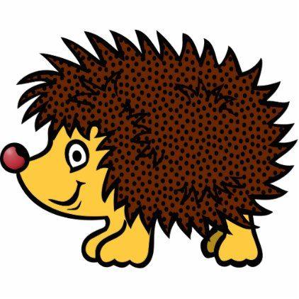 Hedge Hog Cutout Zazzle Com In 2021 Pet Gifts Hedgehog Animal Cartoon Animals