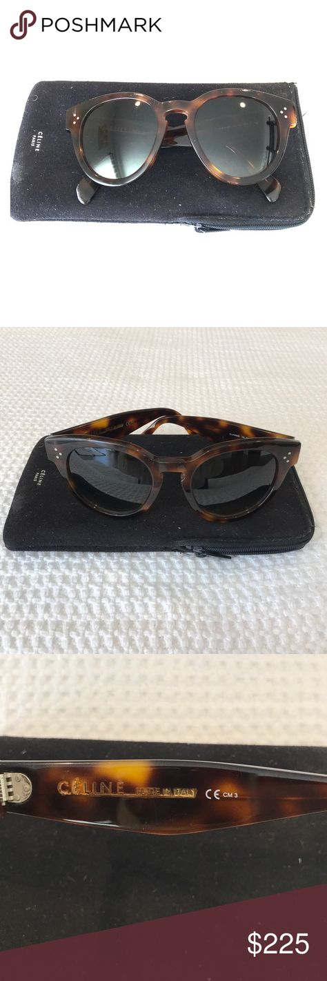 fe37f4c01f9 Authentic Céline Audrey Sunglasses Beautiful tortoise Céline Audrey  sunglasses in Dark Havana and comes with case