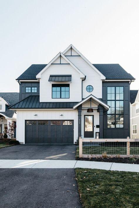 Best modern home exterior design ideas 1 Dream House Exterior, Exterior House Colors, Farm House Exteriors, House Ideas Exterior, Modern Home Exteriors, Modern Exterior House Designs, Style At Home, Future House, Stommel Haus