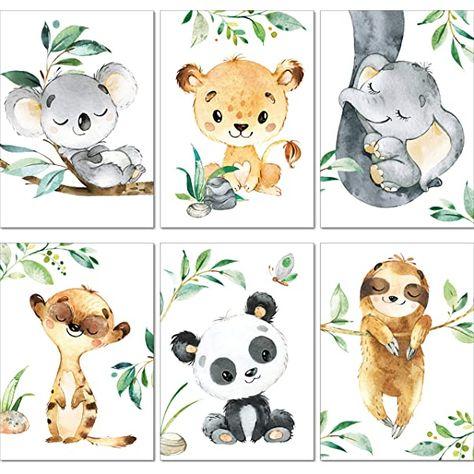 Lalelu Prints A4 Bilder Kinderzimmer Deko Madchen Junge Zauberhafte Dschungel Tiere Poste In 2020 Kinderzimmer Deko Madchen Poster Babyzimmer Bilder Kinderzimmer