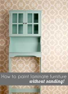 Here S An Easy 1 Day Diy Tutorial For How To Paint Cheap Laminate Furniture Without Sanding Diy Furniture Cheap Painting Laminate Furniture Laminate Furniture