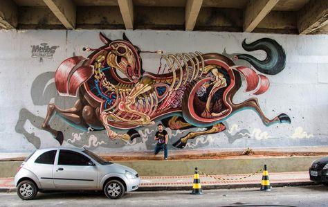 Street Art News: Nychos New Mural - Sao Paulo, Brazil #streetart #graffiti