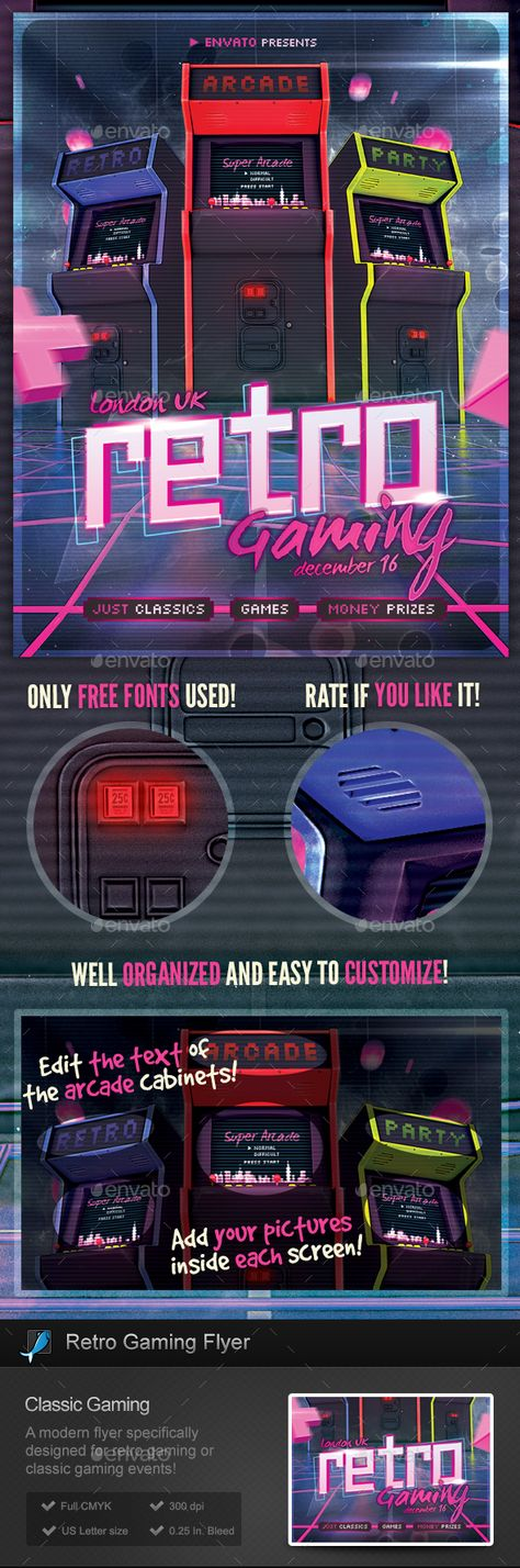 Retro Gaming Flyer - Classic Video Games Template