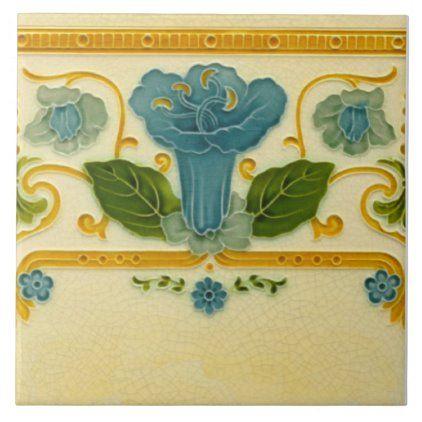 Repro 1900 Pilkington Straight Border Art Nouveau Ceramic Tile Zazzle Com In 2020 Art Nouveau Interior Art Nouveau Ceramic Tiles