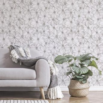 Scott Living 30 75 Sq Ft Taupe Vinyl Floral Self Adhesive Peel And Stick Wallpaper Lowes Com In 2021 Self Adhesive Wallpaper Peel And Stick Wallpaper Wallpaper Roll