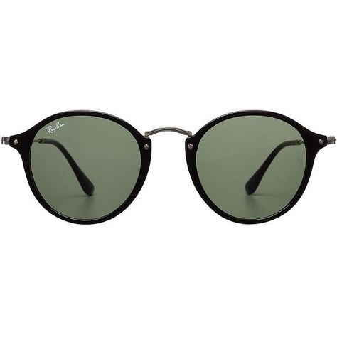 Ray-Ban RB2447 Round Fleck Sunglasses ( 135) ❤ liked on Polyvore featuring  accessories 6068c7166019