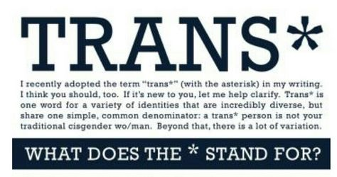 What Does Trans* Mean, and Where Did It Come From? http://slate.me/1f7fM6R @SlateOutward #lgbt #queer #nonbinary