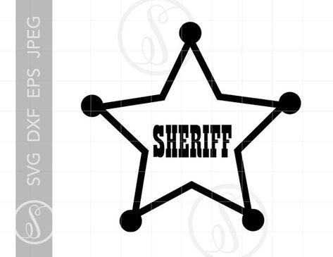 Sheriff Badge SVG | Sheriff Badge Clipart Download | Sheriff Badge Cut File for Cricut | Vector Sheriff Woody Badge Svg Jpg Eps Png SC623