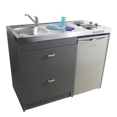 Kitchenette Grise Silver Meuble Sous Evier Kitchenette Et Castorama