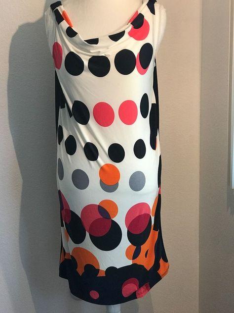 GIBIU Light Pink Polka Dot Short Sleeve Summer Beach Dress Made in USA L M S