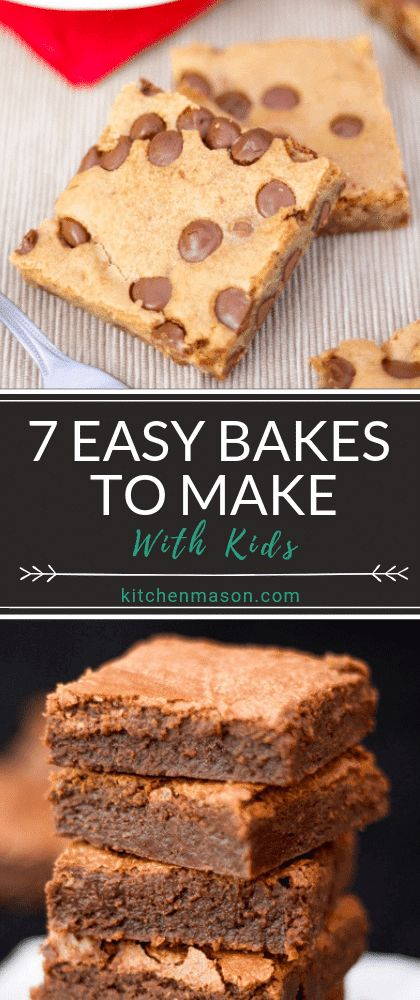 Short on inspiration to get the kids into the kitchen? Well NO MORE! These 7 easy baking recipes to make with kids are exactly what you need. Click for the easy step by step picture recipes. #kidsrecipes #bakingwithkids #easybakingrecipes #childrensbaking