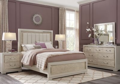 Picture Of Cindy Crawford Home Bel Air Ivory 5 Pc Queen Panel