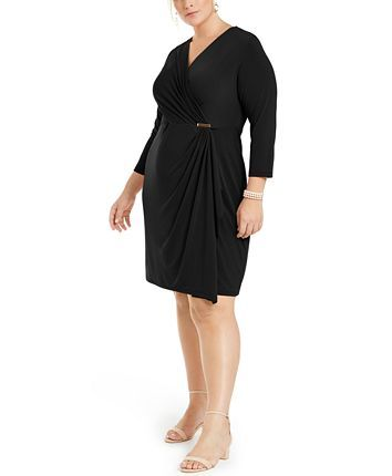 Charter Club Plus Size Surplice Crossover Dress | Dresses ...