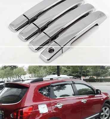 Abs Chrome Side Door Handle Cover Trim For 07 12 Nissan Qashqai Dualis Interior Accessories Side Door Door Handles