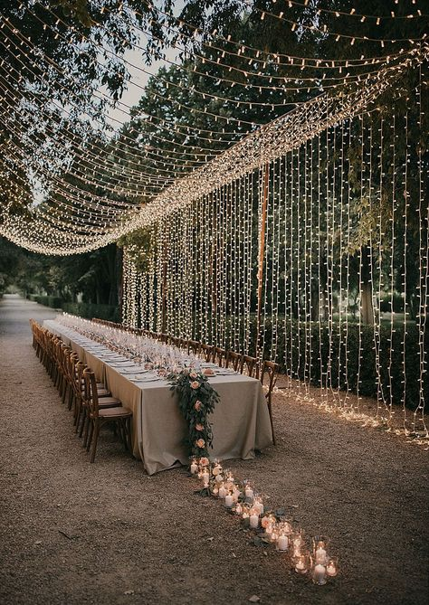 Wedding Reception Ideas, Outdoor Wedding Decorations, Wedding Ceremony, Wedding Tables, Wedding Receptions, Budget Wedding, Wedding Favors, Backyard Wedding Lighting, Wedding Venues Uk