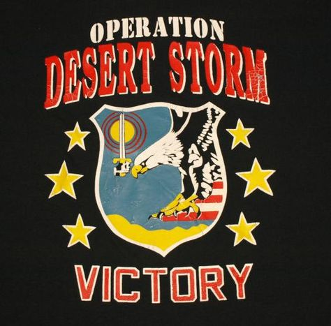 Vintage Operation Desert Storm T-Shirt. Shirt is in excellent per-owned condition. No rips, no stains