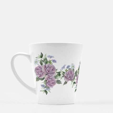 Enjoy your morning coffee in this garden roses latte mug. The artwork wraps all the way around the mug to display the flowers however you hold it.Garden Roses Latte Mug | Floral coffee mug | Vintage Rose mug | Gift for mom | Mother's Day gift | Coffee gift for her | Pink flower mug | ceramic mug ITEM DETAILs- 12 oz white, glossy ceramic mug- Dishwasher and microwave safe- Comes packaged in a clear bag with white ribbon- Turnaround time is 3-7 business days before shipment- Please note Mugs may s