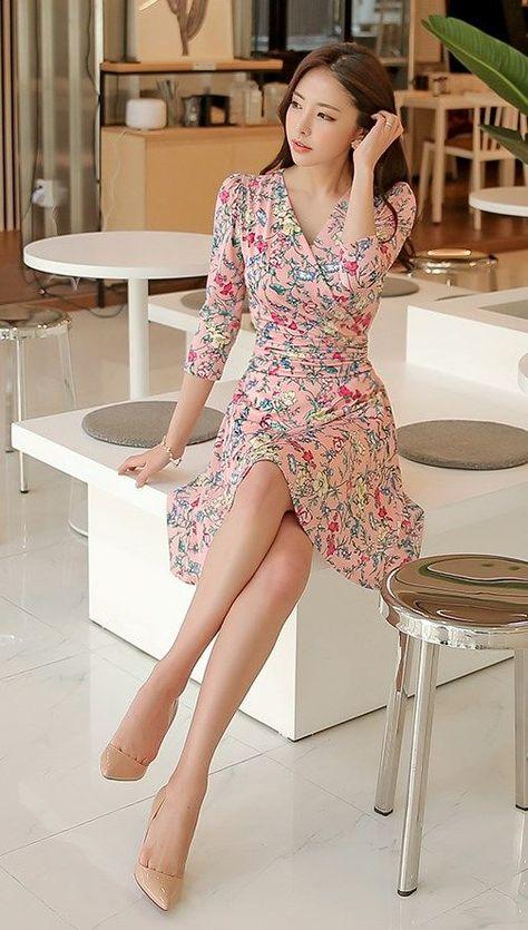 51c24989a8 Korean Fashion Online Store 韓流 Trends Luxe Asian Women 韓国 Style Shop korean  clothing Freesia banding Dress Luxe Asian Women Design Korean Model Fashion  ...