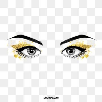 Hand Painted Black Curled Thick Eyelashes Love Eye Makeup Eyes Clipart Hand Painted Black Line Png Transparent Clipart Image And Psd File For Free Download Black Curls Eyes Clipart Thicker Eyelashes