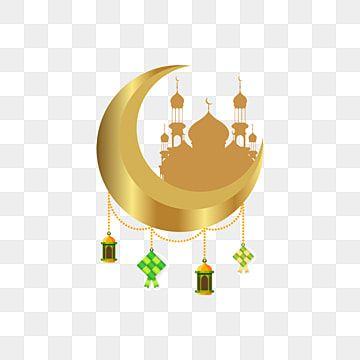 Eid Mubarak Selamat Hari Raya Aidilfitri Greeting With Ketupat Mosque Background On The Moon Ketupat Food Icon Png And Vector With Transparent Background For Eid Mubarak Eid Mubarak Greetings Eid Mubarak