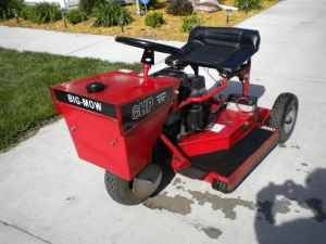 Swisher A 32 3 Wheel Mower Repower Garden Tractor Garden Tractor Attachments Lawn Mower