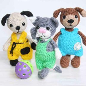 Crochet Pattern Outfit for Yodeler Bunny Boy/ amigurumi toys ... | 290x290