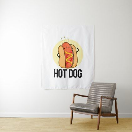 Hot Dog Cute Hot Dog Food Pun Tapestry Zazzle Com Dog Food