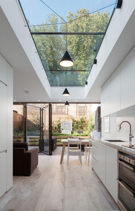 35 Ideas Kitchen Modern Interior Design Glass Roof For 2019 Skylight Kitchen Modern Kitchen Design House Design