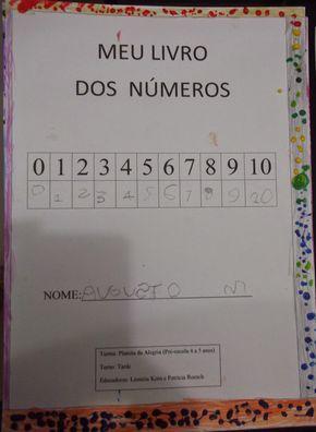 Meu Livro Dos Numeros Matematica Na Educacao Infantil Numeros