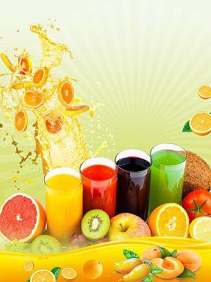 Colorful Fruit Fresh Juice Menu Template Poster Background Psd Image Juice Menu Colorful Fruit Fresh Juice