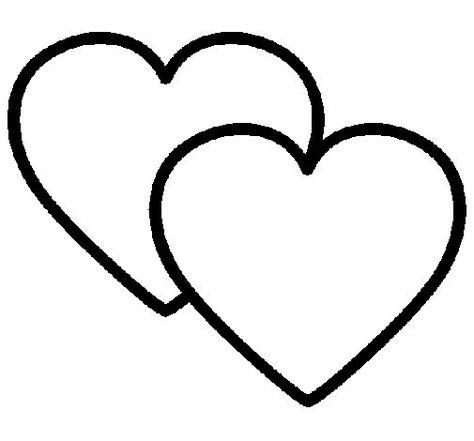 Dibujos Para Colorear Corazones Corazones Para Calcar Corazon